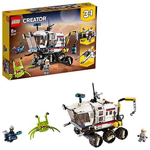 LEGO31107Creator3en1RóverExploradorEspacialoBaseEspacialoAstronave,JuguetedeConstrucciónparaNiños+8años
