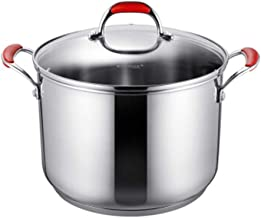 LJBH 304 Stainless Steel Deep Soup Pot, 24CM, Induction Cooker Soup Pot, Multi-purpose One Pot, Three-layer Multiple Base,...