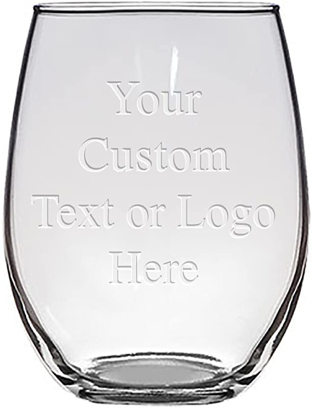 Custom Monogrammed Personalized Stemless Wine Glasses Bridesmaid Gifts Laser Engraved Customized For Free