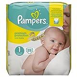 Pampers New Baby tamaño 1, 22 pañales, 2-5 kg