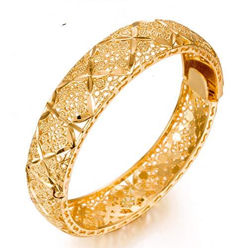 MHOOOA 24 Karat Gold Farbe Äthiopischen Schmuck Armreifen Für Frauen Dubai Ramadan Armreifen & Armband Afrikanischen/Arabischen Jäten Schmuck Geschenk