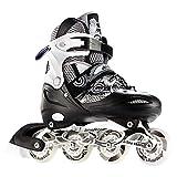 AYLS Inline-Skates können die Rollschuhe für Erwachsene, Erwachsene, Männer und Frauen außerhalb des Large Size Light anpassen,Black,43~46cm