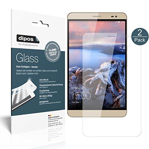 dipos I 2X Panzerfolie klar kompatibel mit Huawei MediaPad X1 / X2 7.0 Schutzfolie 9H Bildschirmschutz-Folie