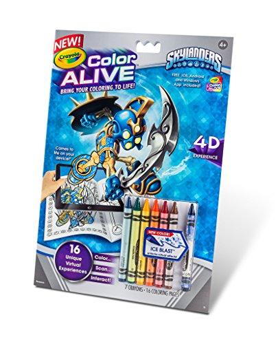 Crayola Color Alive Action Coloring Pages-Skylanders