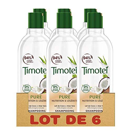 Timotei Shampooing Femme Pure Nutrition et Légèreté - lot de 6x300 ml
