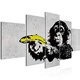 decoración de la pared Tabla Banksy Mono Banana - 200 x 100 cm Vista de impresión en lienzo Salón Apartamento - listo para colgar - 302851a