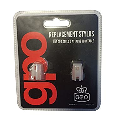 GPO Replacement Stylus for GPO Stylo and Attache Turntables (Pack of 2)