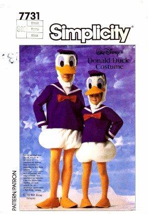 Simplicity 7731 - Patrones de costura para disfraz de Donald Duck de Walt Disney (pecho de 32 a 34)