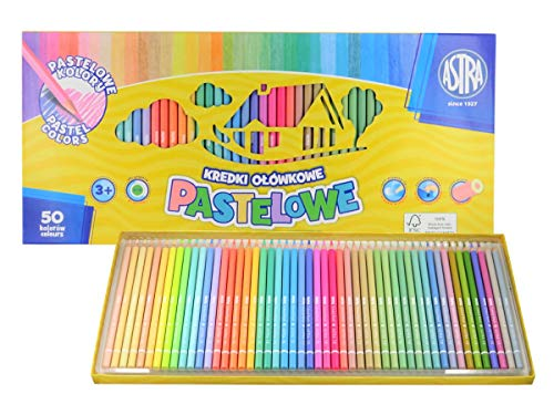 Buntstifte 50 Astra Farbstifte Malstifte Pastell Pastellfarben Holzstifte Kinder Maler Adult Colouring