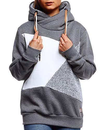 Leif Nelson dames pullover hoodie pullover met capuchon voor vrouwen bovenstuk lange mouwen sweatshirt lange mouwen slim fit LN5828