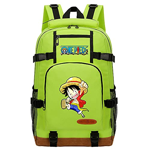 CXWLK Vintage Canvas Laptop Mochila De Viaje Messenger Bandolera Messenger Crossbody Daypack Bolsas Mochila De Gran Capacidad,One Piece,Green,46cmX29cmX13cm