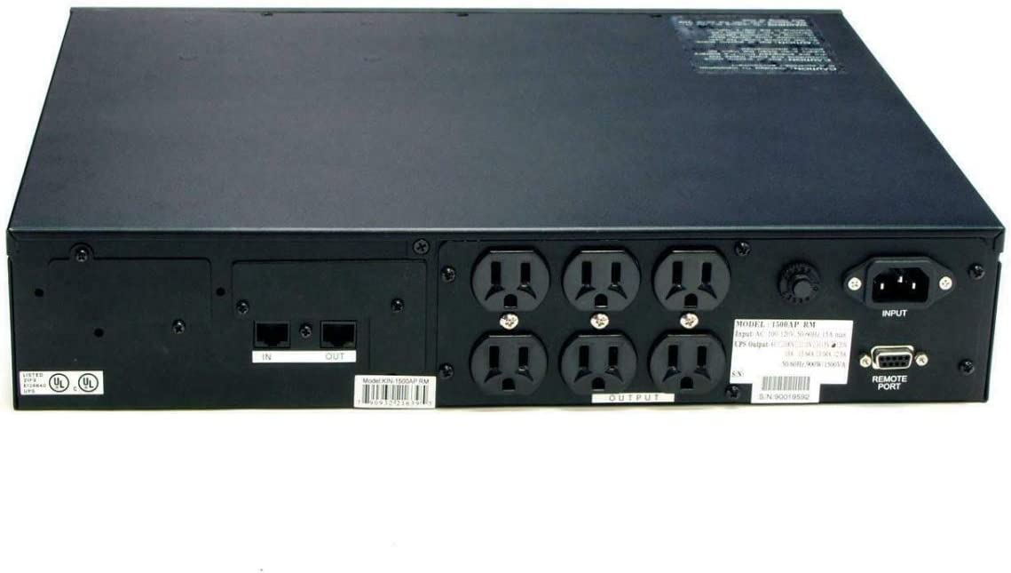 Powercom KIN-1500APRM 1500VA 2U Rack Mount Line Interactive Uninterruptible Power Supply