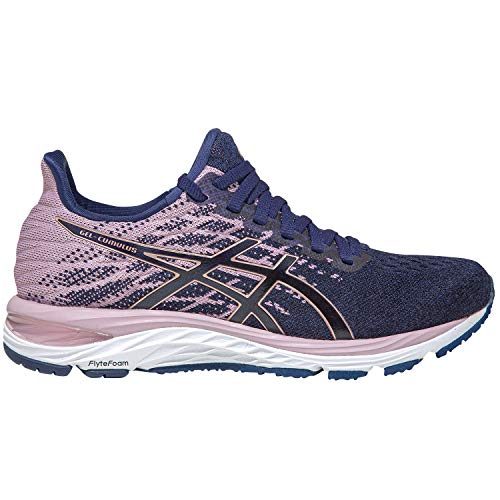 ASICS Damen Cumulus 21 Knit Traillaufschuh, Peacoat/Rose Gold, 41.5 EU