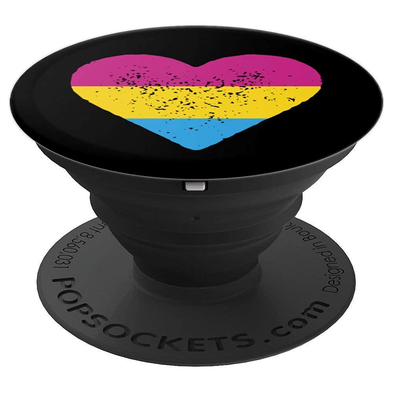 Pansexual Heart Shirt, Pansexuality T-shirt, Pan Love, LGBTQ PopSockets Grip and Stand for Phones and Tablets