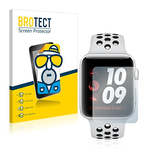 BROTECT Protector Pantalla Anti-Reflejos Compatible con Apple Watch Nike Plus Series 3 (38 mm) (2 Unidades) Pelicula Mate Anti-Huellas