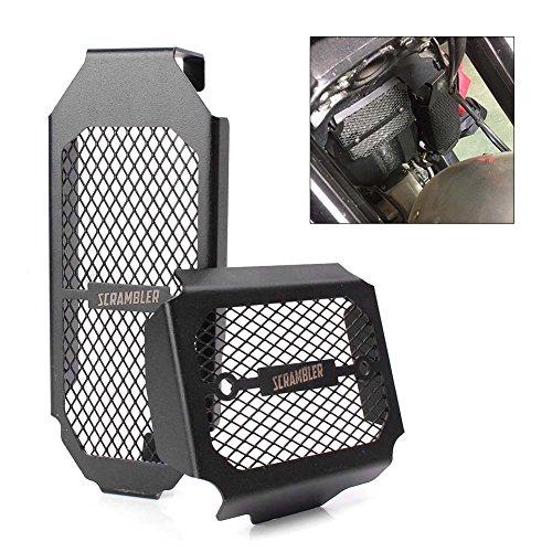 GZYF - Carcasa protectora para radiador de motocicleta, de metal, color negro, compatible con DUCATI Scrambler 800 2015 2016
