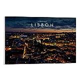 MAIYI Poster mit Landschaft von Lissabon, Hauptstadt