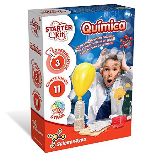 Science4you-Science4you-Starter Kit Chimico Giocattolo scientifico ed educativo, Multicolore + 8 Anni, 80002581