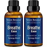 Breathe Essential Oil Blend 30 ml (Set of 2) - Pure, Natural Eucalyptus, Peppermint, Rosemary and Niaouli - Helps Relief Sinus, Cough and Congestion Nexon Botanics