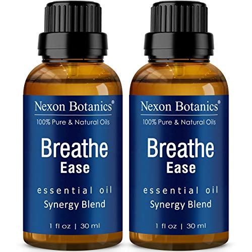 Breathe Essential Oil Blend 30 ml (Set of 2) - Pure, Natural Eucalyptus, Peppermint, Rosemary and Niaouli - Helps Relief Sinus, Colds, Cough and Congestion Nexon Botanics