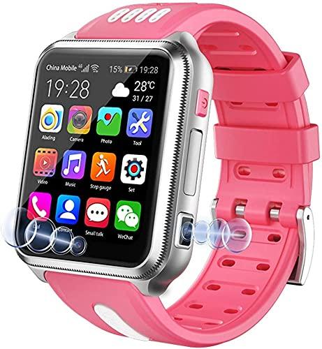 X&Z-XAOY Reloj Inteligente Rastreador De Actividad Física Reloj De Pulsera Inteligente con Cámara De Música GPS para Niños/Estudiantes 4G Seguimiento De Seguimiento (Color : Pink)