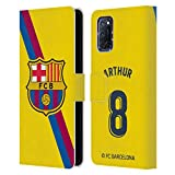 Head Case Designs Licenciado Oficialmente FC Barcelona Arturo Melo 2019/20 Jugadores Away Kit Grupo 1 Carcasa de Cuero Tipo Libro Compatible con OPPO A72