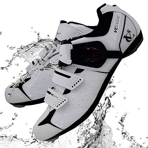 VeloChampion Scarpe per Ciclismo da Strada Elite (Paio) White/Black 43