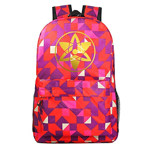 Anime Rucksack Rucksack Student Schoolbag Boys Girls Girls cosplayNaruto Bronzing Print,31x18x158cm