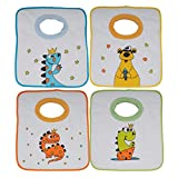 Ti TIN Pack 4 Baberos Estampados Impermeables para Bebés de Más de 1 año con...