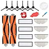 LOVECO Replacement Accessories Kit Compatible for Xiaomi Mijia Roborock S5 S6 S50 S51 S55 Xiaowa E20 E25 E35 Robotic,2 Main Brush,4 Filter,4 Mopping Cloth,6 Side Brush,2 Cleaning Tool