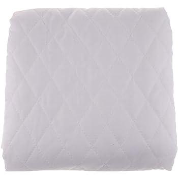 IPOTCH Tela de Algodón Paño de Acolchado Lienzo de Costura 145 x 100 cm - Blanco: Amazon.es: Hogar