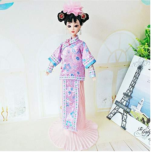 ANNIUP - Mueca Antigua de Estilo Chino, Hermoso Disfraz para Mujer, Juguete de Ao Nuevo Chino, Adornos para nios y nias, 40 cm (01)
