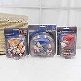 3 Piezas / Set Dibujos Animados Linda Sonic PVC acción Figura Juego Sonic Knuckles Tails Colección Modelo Mu?Eco Doll Gift para ni?os Anime Regalos Juguetes Modelo Kits