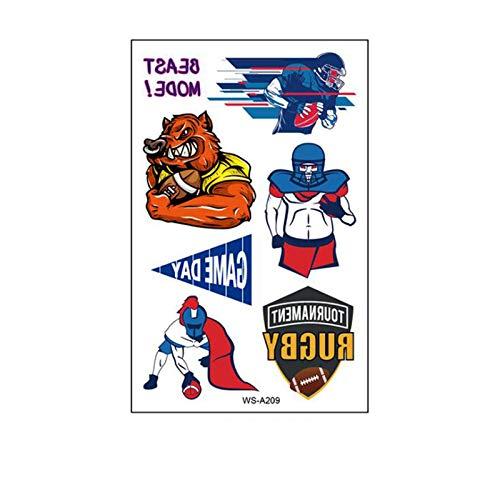 cookin Fußball Team Aufkleber Kreative DIY Aufkleber, Fußball Aufkleber wasserdichte Schweiß Fans Spiele Graffiti Gesicht Aufkleber 10PC Rugby Super Bowl Aufkleber, Geschenk für Frauen und Männer