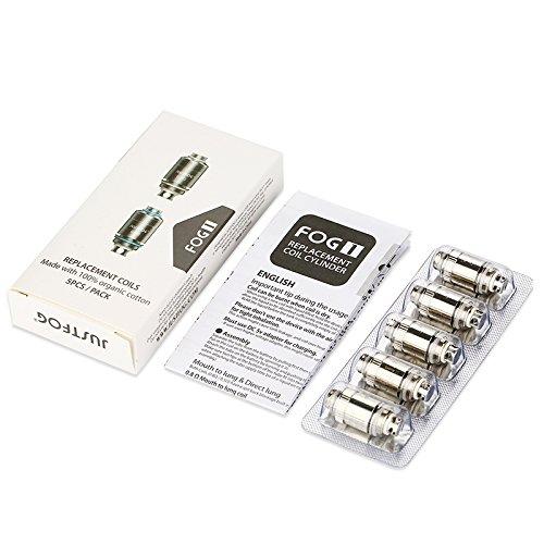 Justfog Resistenze (coil) di ricambio senza nicotina 0.5 ohm- Pacco da 5 x 7 gr