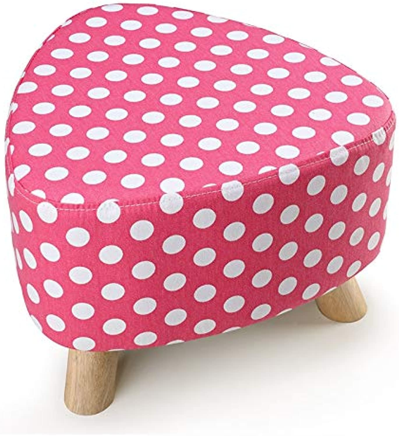 FS Footstool, Small Stool Removable and Washable shoes Stool European Fabric Sofa Stool (color   C, Size   Heart Type)