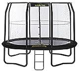 trampolin mit Netz und Leiter JumpPod Oval396 x 274 cm schwarz (2016)
