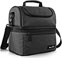 Lunch Bag for Women, Insulated Lunch Box for Men/Kids, Large Cooler Tote Bag for Office/School/Picnic with Dual Spacious...