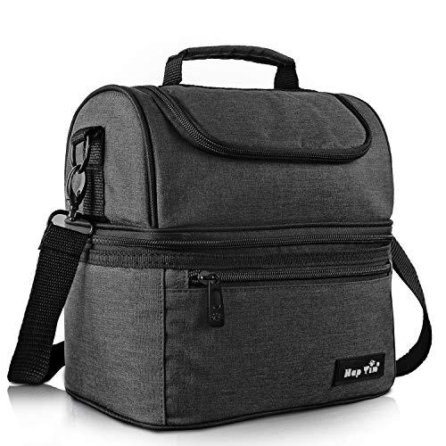 Kühltasche klein Kühlbox faltbar Lunchtasche Mittagessen Tasche Thermotasche Isoliertasche Picknicktasche für Lebensmitteltransport Arbeit Picknick 8 L(16040-DG)