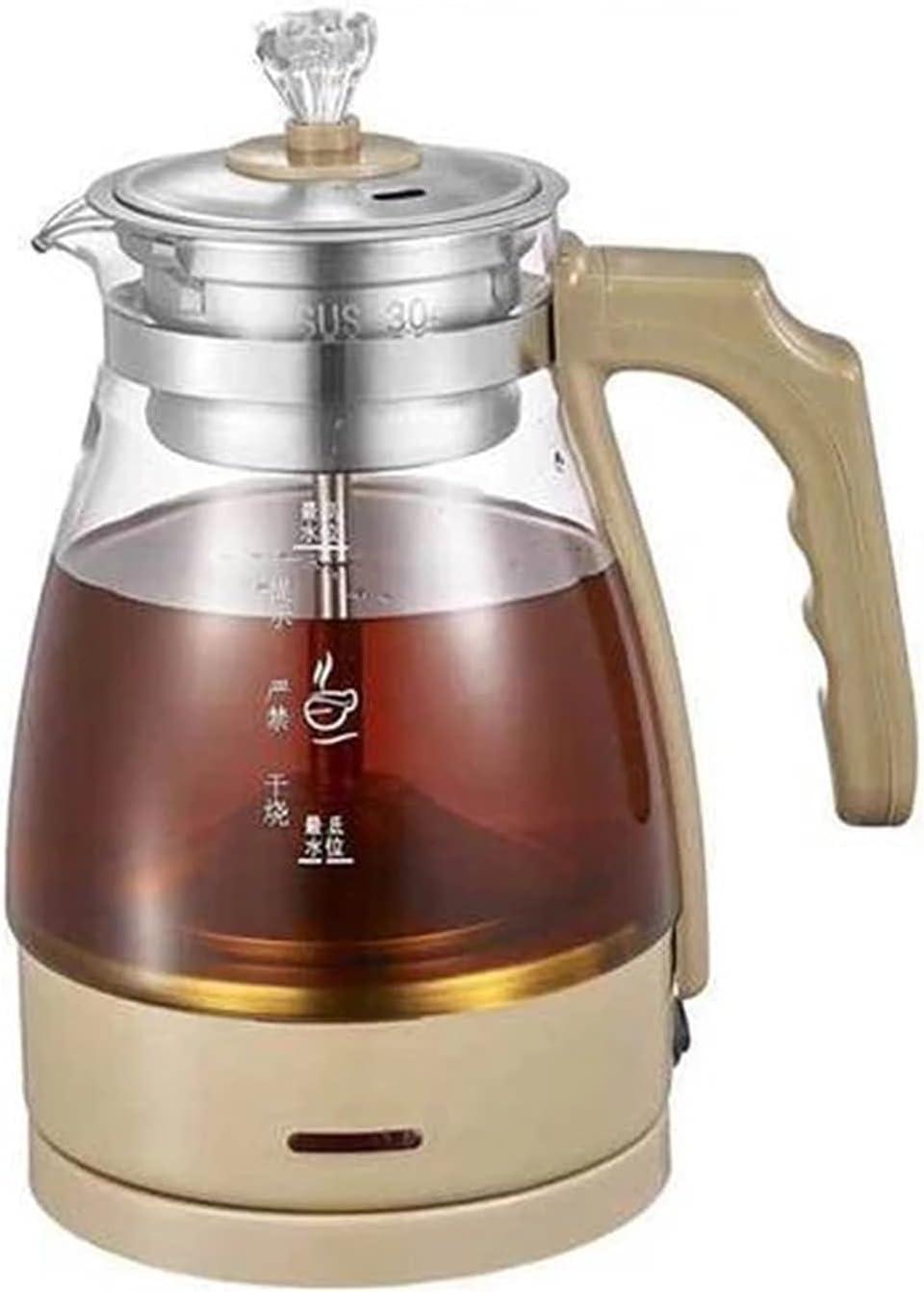 1L Electric Miami Mall Kettle Coffee Tea Pu Glass 'er Black Popular standard Maker