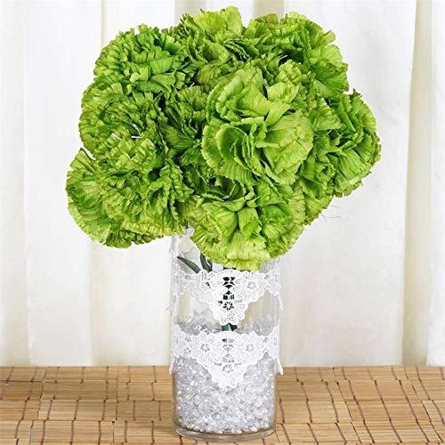 Efavormart 36 pcs Extra Large Artificial Carnations Flowers for DIY Wedding Bouquet Centerpiece Arrangement Decoration - Lime Green