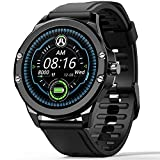 Smart Watch for Android and iOS Bluetooth Smartwatch for Women Men IP68 Waterproof Fitness Activity Tracker with Heart Rate Blood Pressure Sleep Monitoring