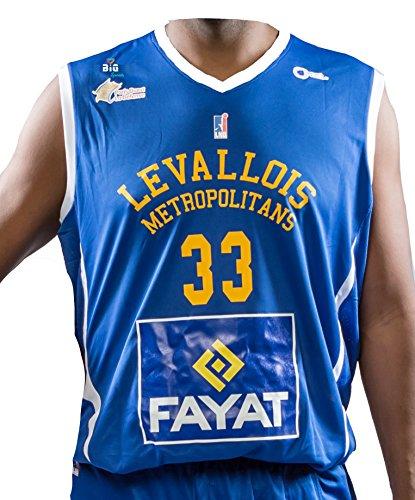 Bigsport Boris Diaw 2017-2018 - Camiseta de Baloncesto para Hombre, Hombre, Color Azul, tamaño FR : XXS (Taille Fabricant : 8 ANS)