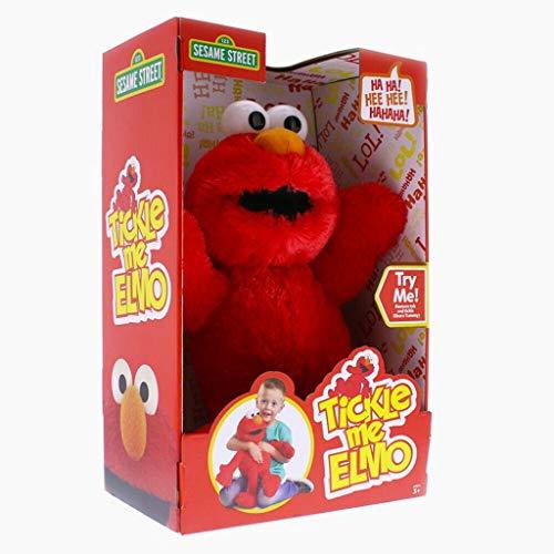 Sesame Street Wackeln Kichern Lachen Tickle Mich Interaktives Elmo-Plüschtier aus der Sesamstraße Uber 20 Sounds 39 cm Tickle Me Elmo Interactive Toy from