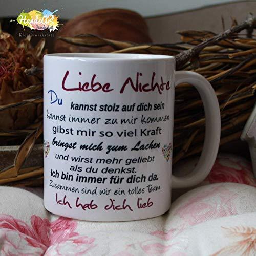 Kaffeebecher ~ Tasse - Liebe Nichte -ich~ Tante~ Weihnachten Geschenk