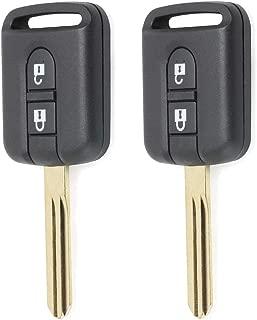 Beefunny 433MHz ID46 PCF7946 Chip 2 Button Remote Key Fob for Nissan Elgrand X-TRAIL Qashqai Navara Micra Note NV200 5WK4 876/818 (2)