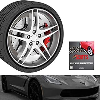 RIM SCUFF BLACK (4wheels) / SET of 4 / Fits Wheels up to 22