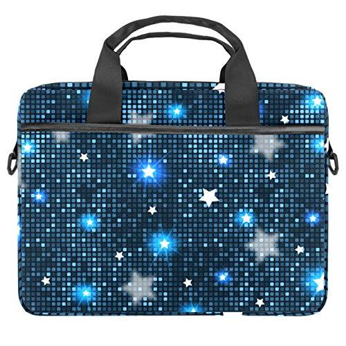 Lurnies Azulejos Abstractos Estrellas Azules Bolso de Hombro del Ordenador portátil Impreso único Compatible con MacBook Pro de 13-13.3 Pulgadas, MacBook Air, computadora portátil 28x36.8x3 cm