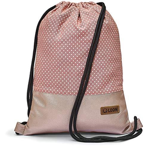 By Bers LEON - Bolsa de deporte con bolsillos interiores con cremallera, mochila para hombre y mujer