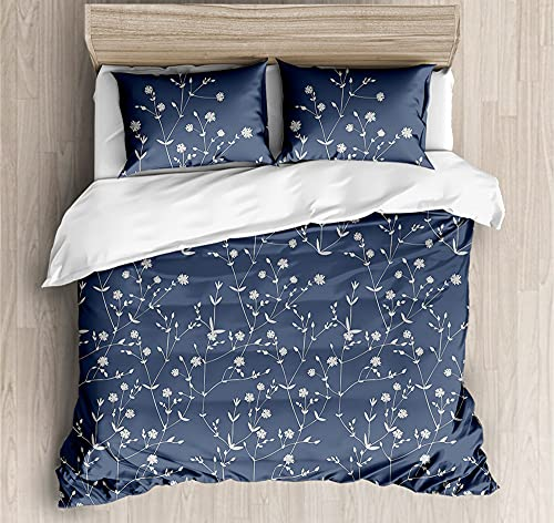 Duvet Cover Bedding,Set Ultra Soft Microfiber Bedding Edelweiss Printed Quilt Cover with Zipper Closure,200*200cm
